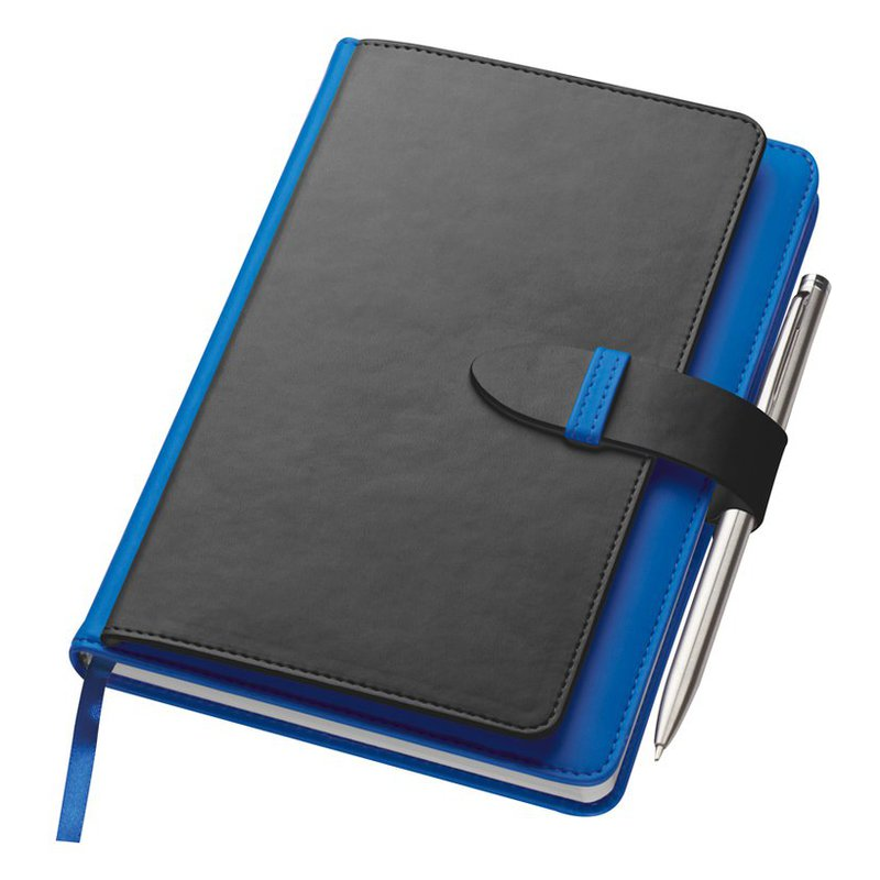 Notebook with business card