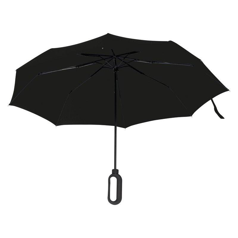 Pocket umbrella with carabiner handle