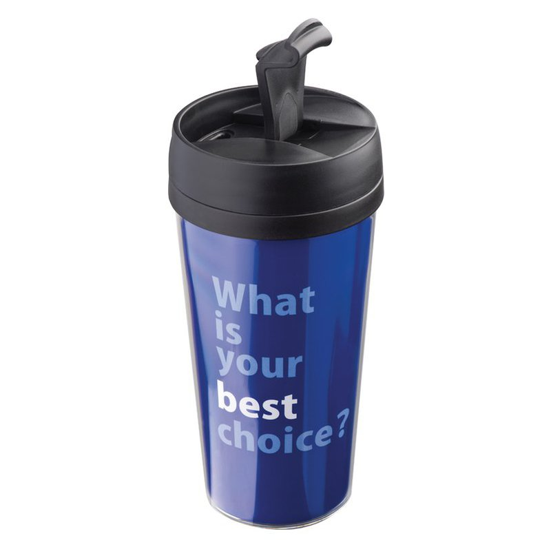 Thermal mug with paper inlay