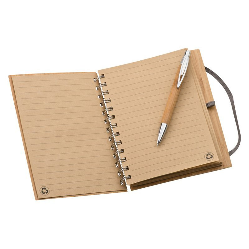 Note pad with bamboo cover A5
