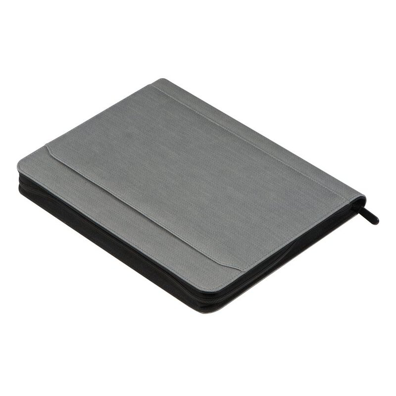 Conference folder with integrated power bank