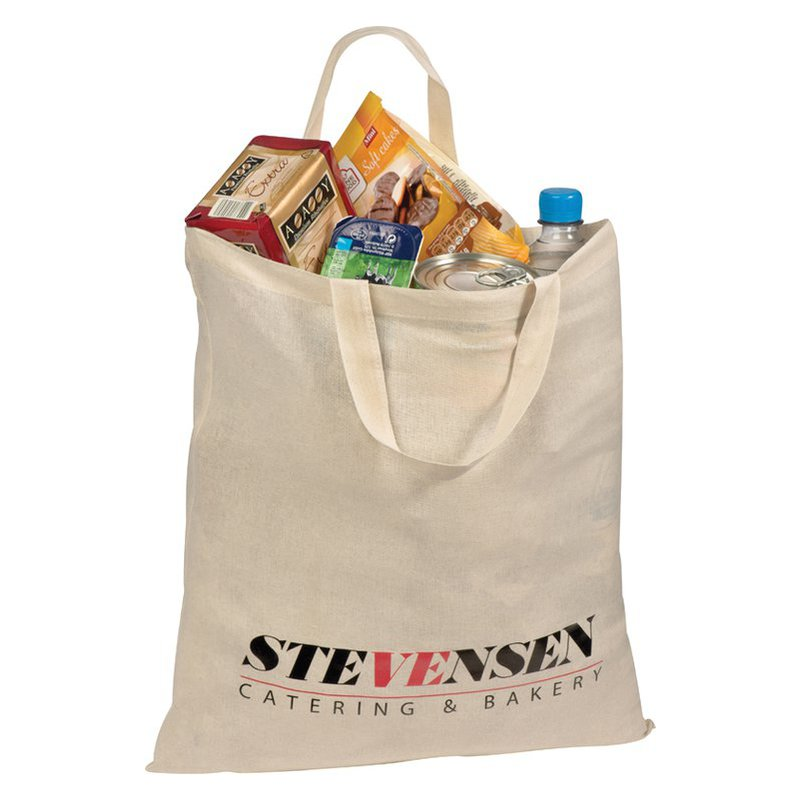 Short-handled shopping bag
