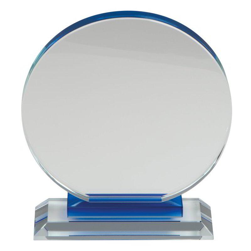 Glass trophy in classy packaging