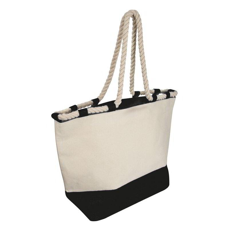 Beach bag with drawstring