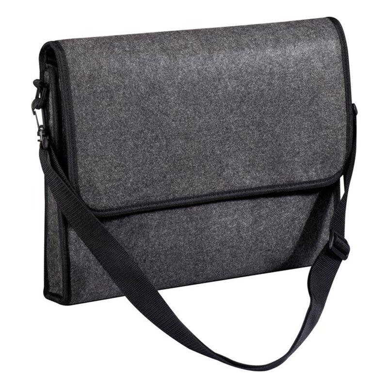 Felt college bag with Velcro fastener