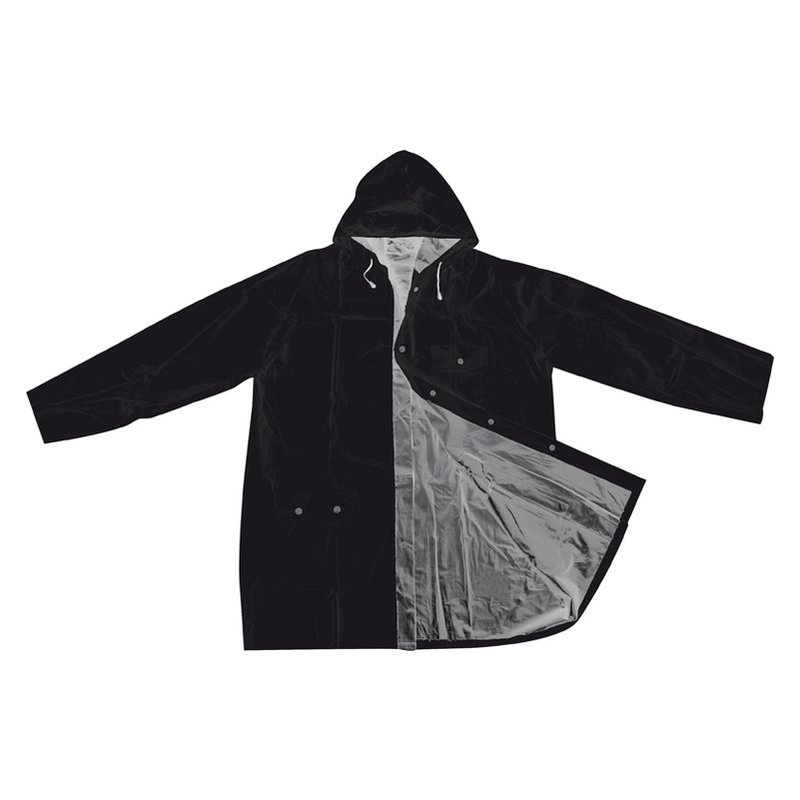 Bicolour reversible raincoat