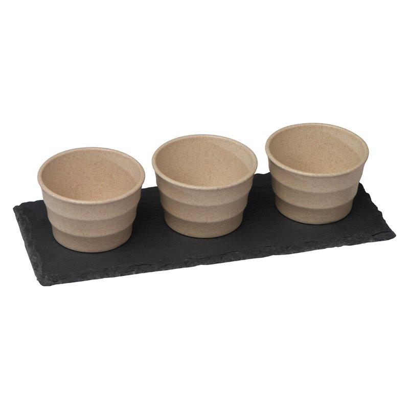 Small bowls set slate board