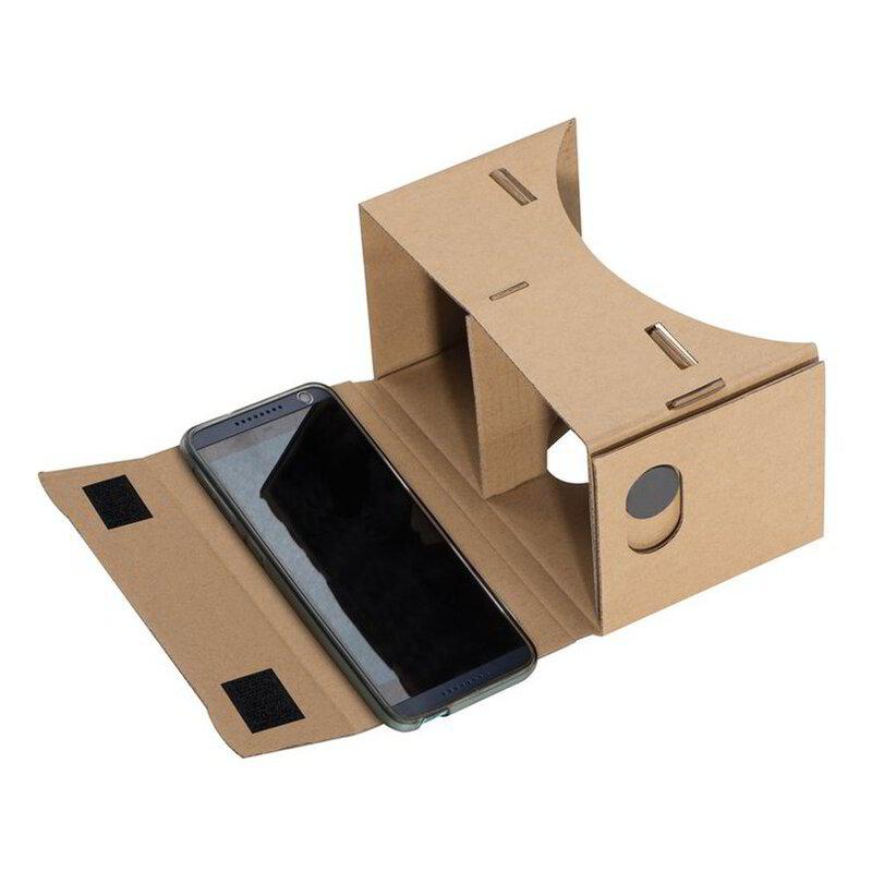 Virtual Reality glasses made of cardboard
