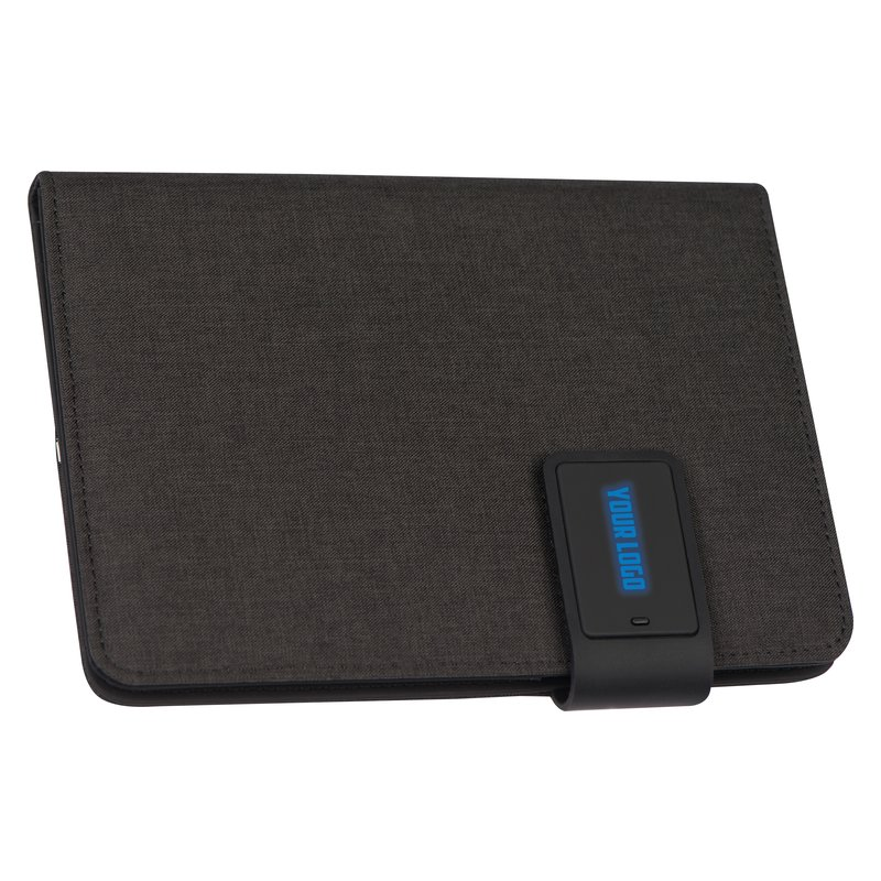 DIN A5 notebook+LED, powerbank