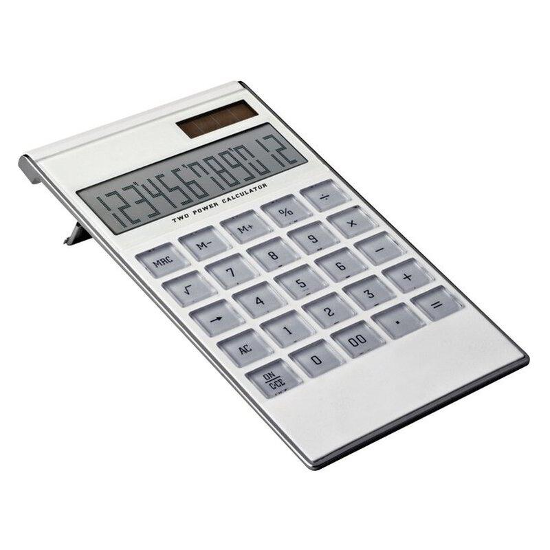 12-digit dual-power calculator