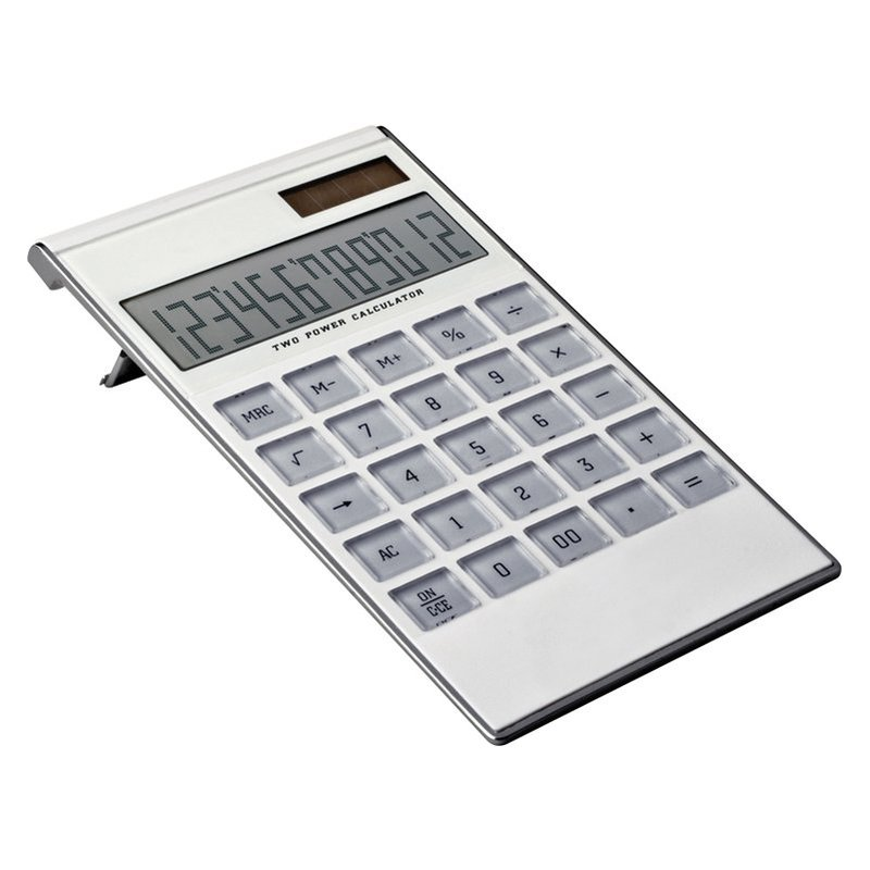 12-digit dual-power calculator