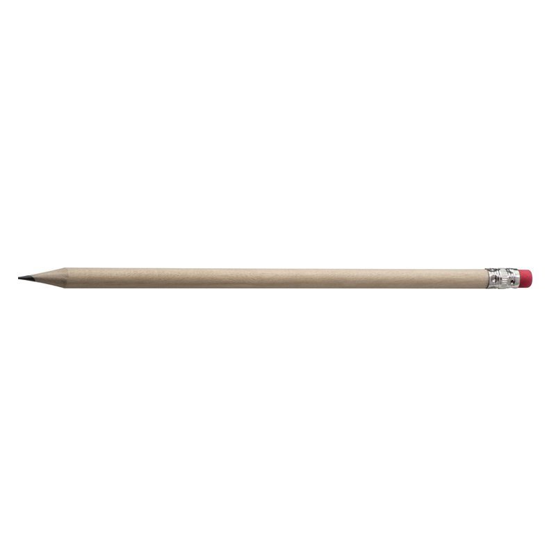 Pencil with rubber