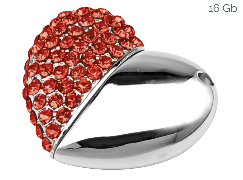 USB RED HEART 38x43 mm