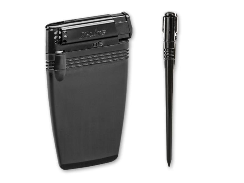 FLATEN flat plastic lighter, Black