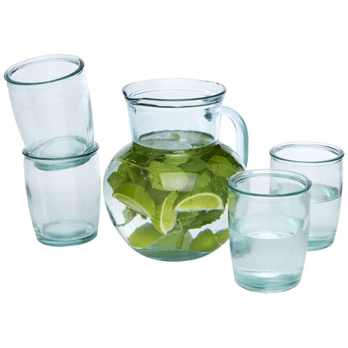 Terazza 5-piece recycled glass set