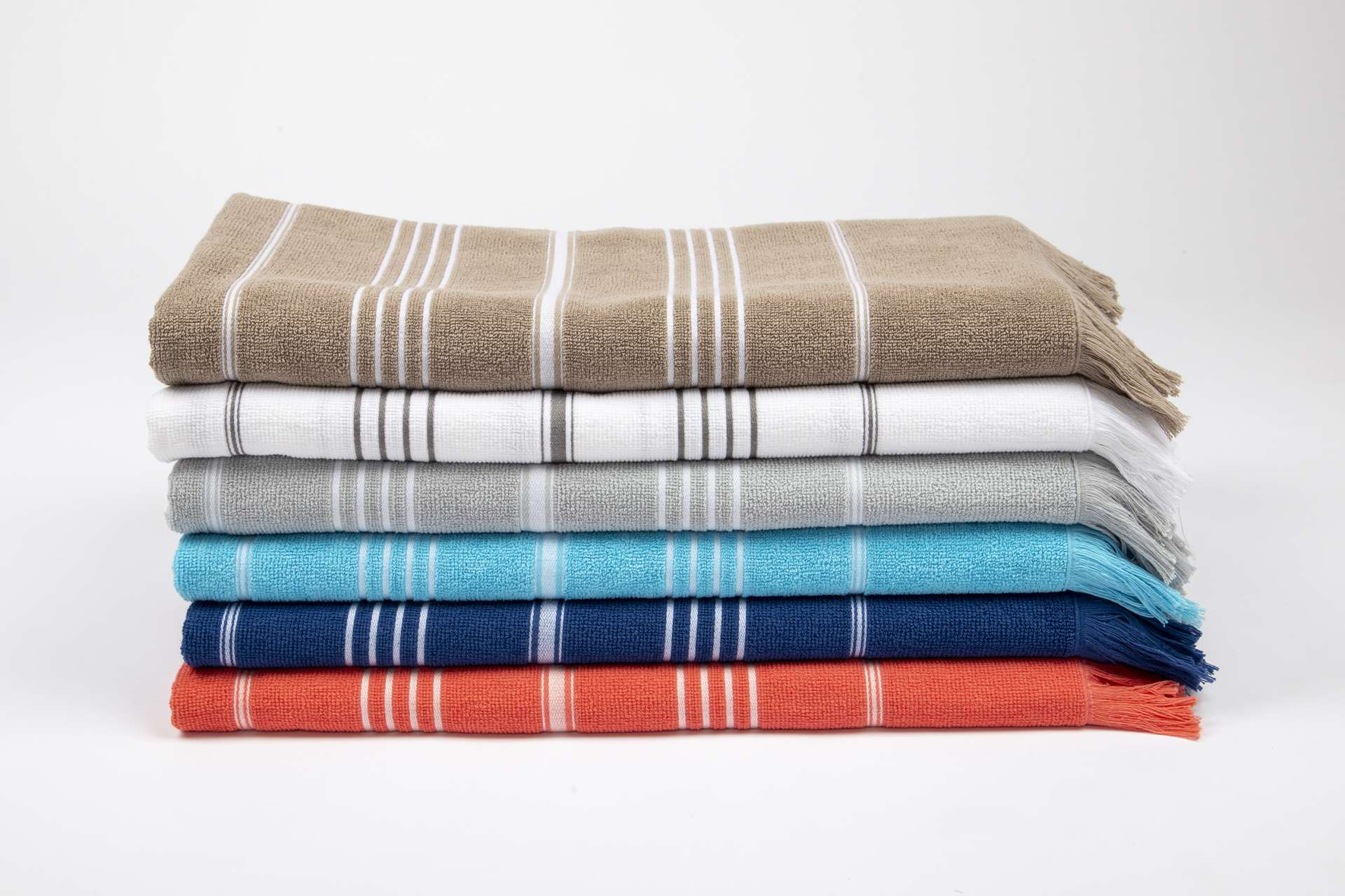 OLIMA STRIPED BEACH&SPA PESHTEMAL TOWEL