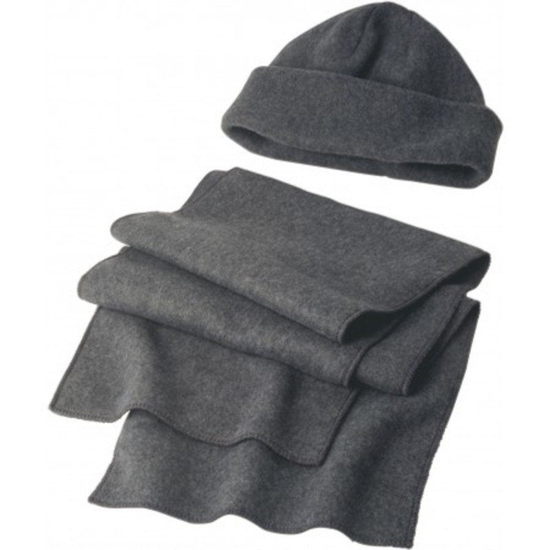 Fleece cap and scarf