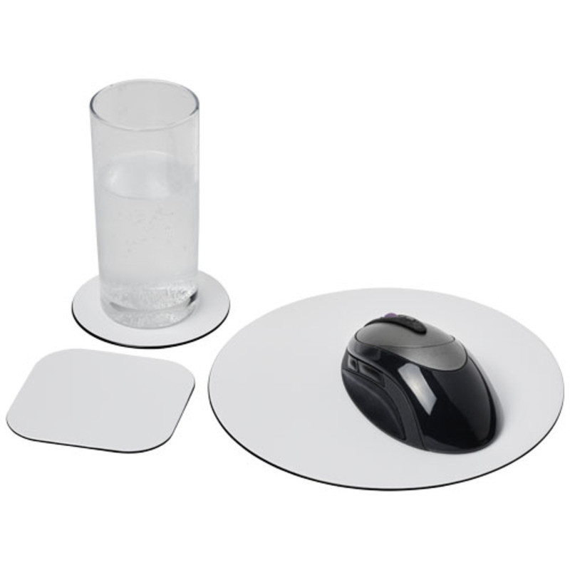 Brite-Mat® mouse mat and coaster set combo 4