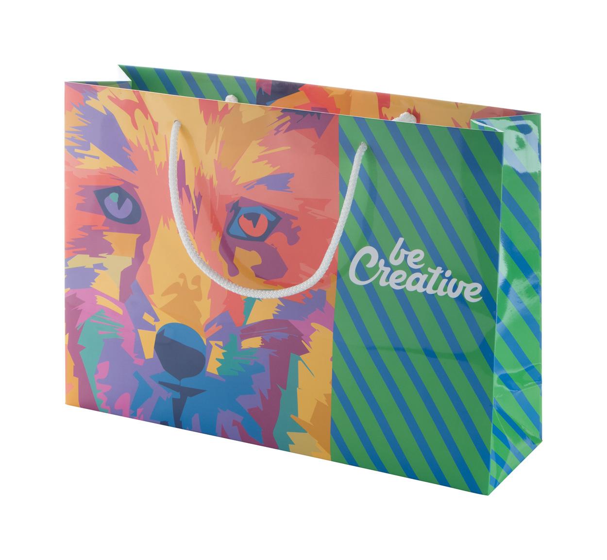 CreaShop H custom made paper shopping bag, horizontal
