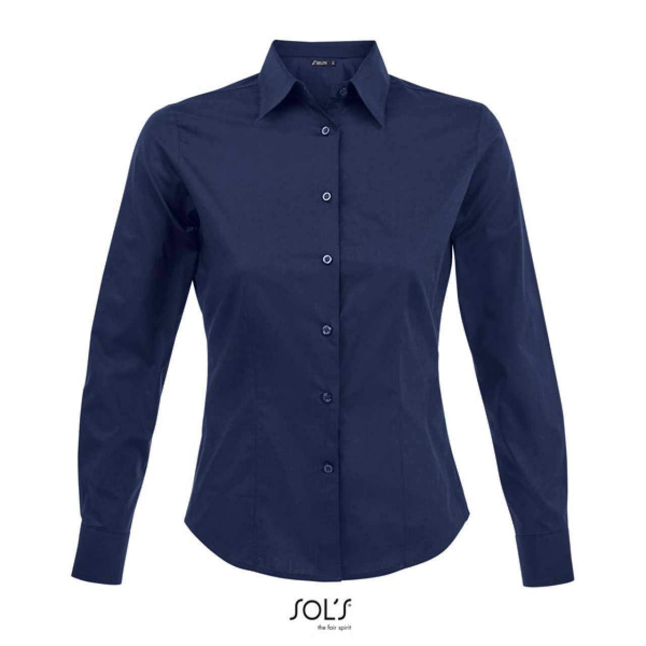 SOL'S EDEN - LONG SLEEVE STRETCH WOMEN'S SHIRT