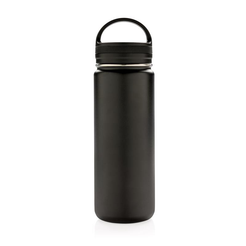 Vacuum insulated leak proof wide mouth bottle
