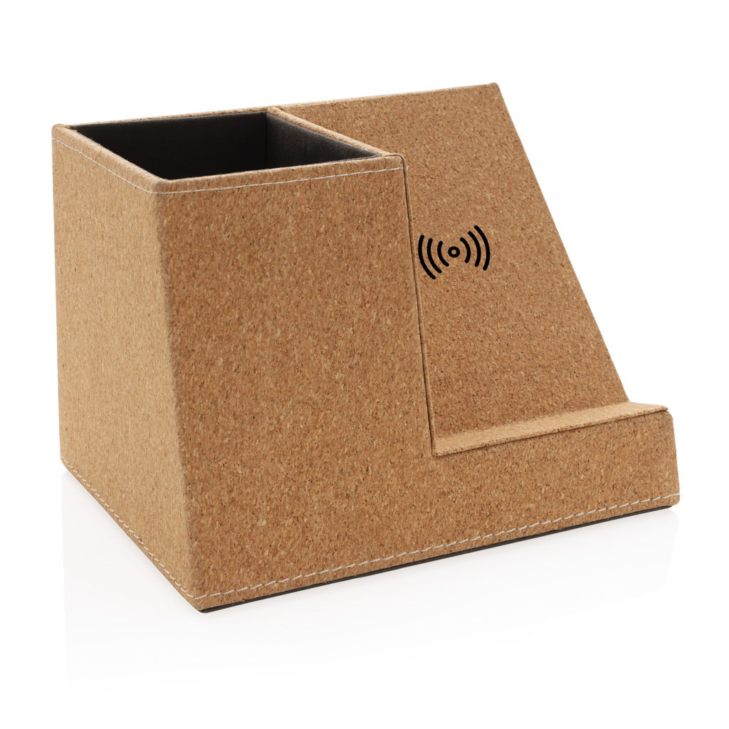 Cork pen holder and 5W wireless charger