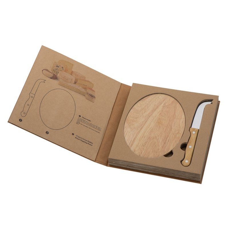 Cheese set with cutting board