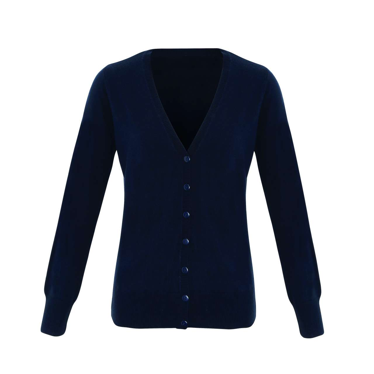 'ESSENTIAL' LADIES' ACRYLIC V-NECK CARDIGAN