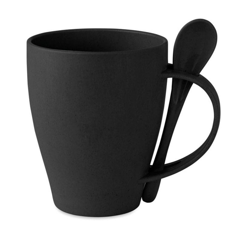 Mug with spoon bamboo fibre/PP