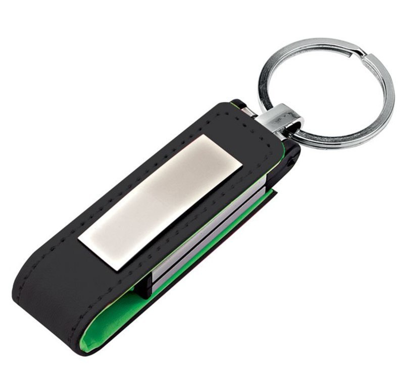 USB GREEN LEATHER 22x105 mm
