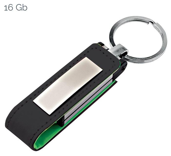 USB GREEN LEATHER 22x105 mm