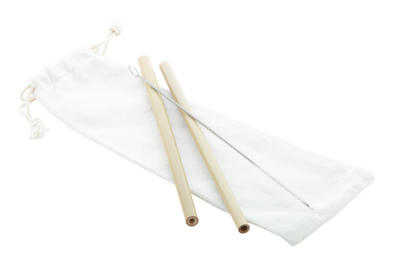 BooSip bamboo straw set