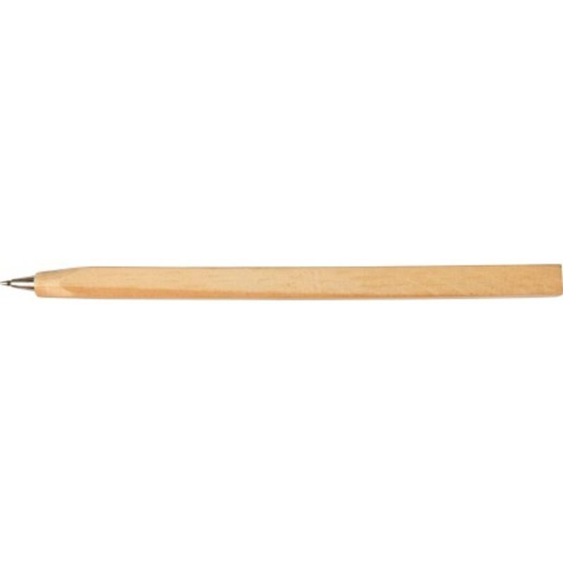 Wooden carpenter's ballpoint pen.