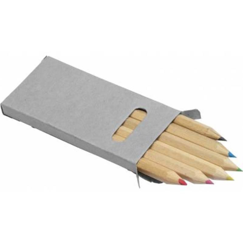 Six colour pencil set