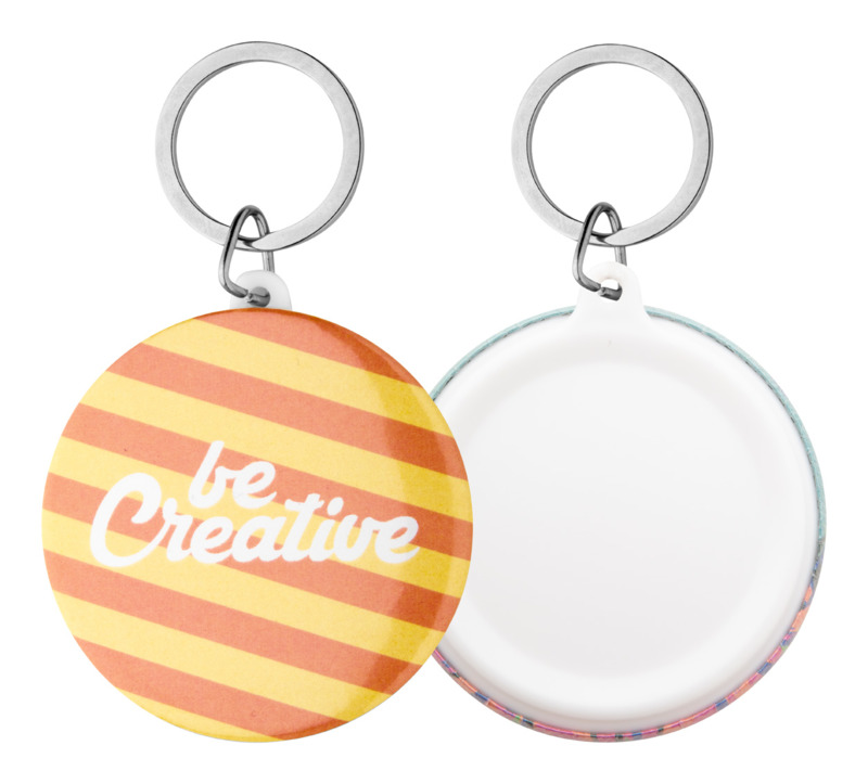 KeyBadge Maxi pin button keyring