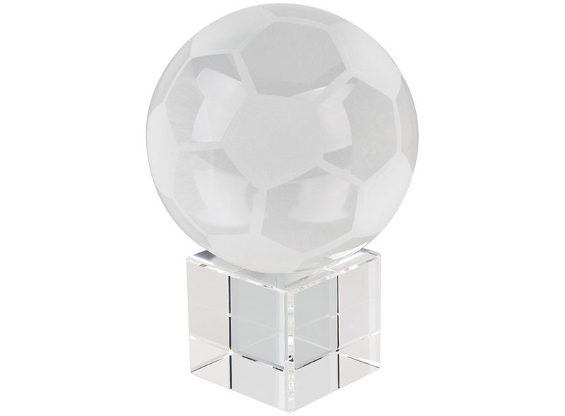 SPHERE FOOTBALL  d=80mm W/ BASE GLASS