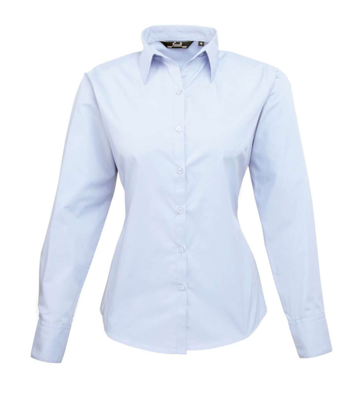 WOMEN'S LONG SLEEVE POPLIN BLOUSE