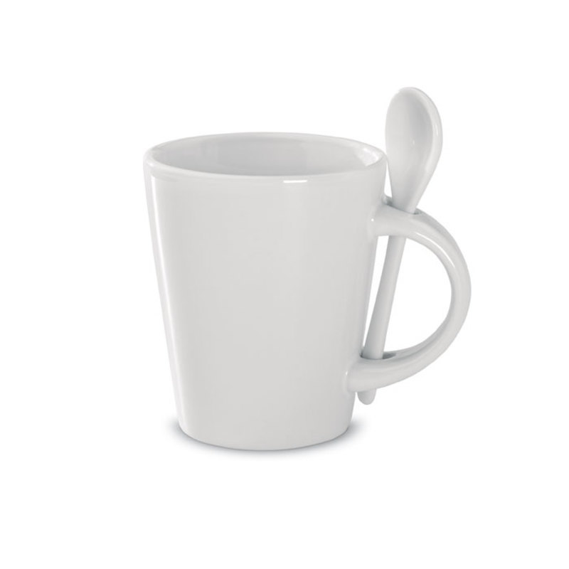 Sublimation mug with spoon