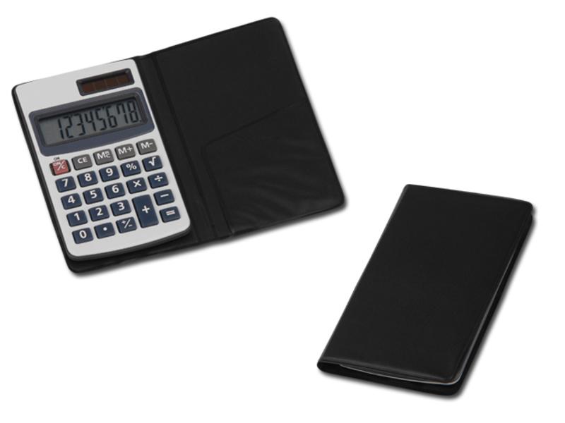 ARTON dual calculator with 8 dial display, Black