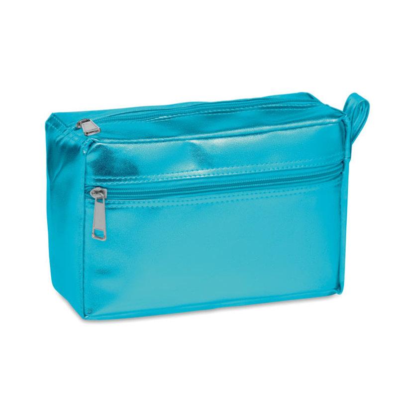 Cosmetic bag in shiny PVC