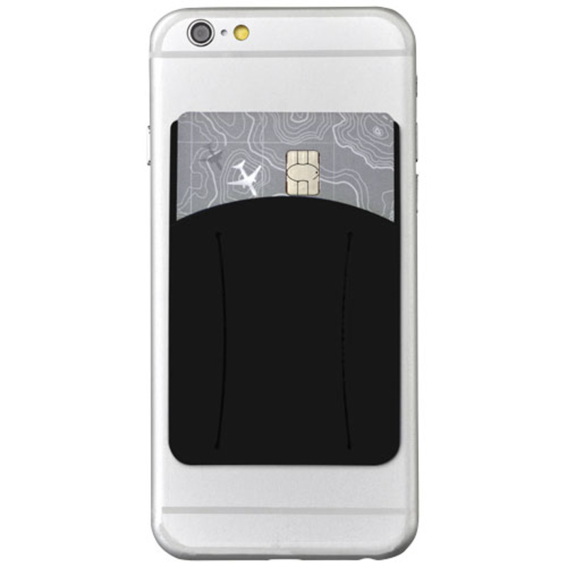 Storee silicone smartphone wallet with finger slot
