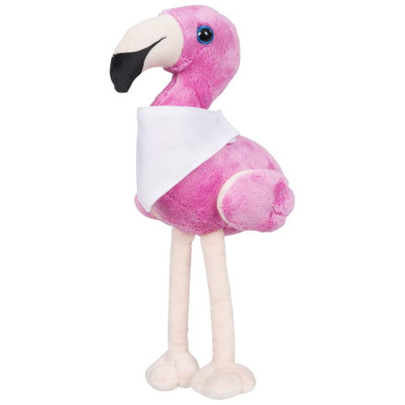 Flamo plush flamingo with brandable bandana