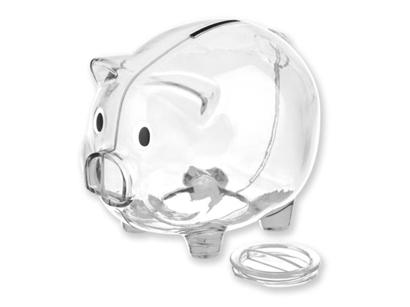 OSWALD piggy bank, Transparent