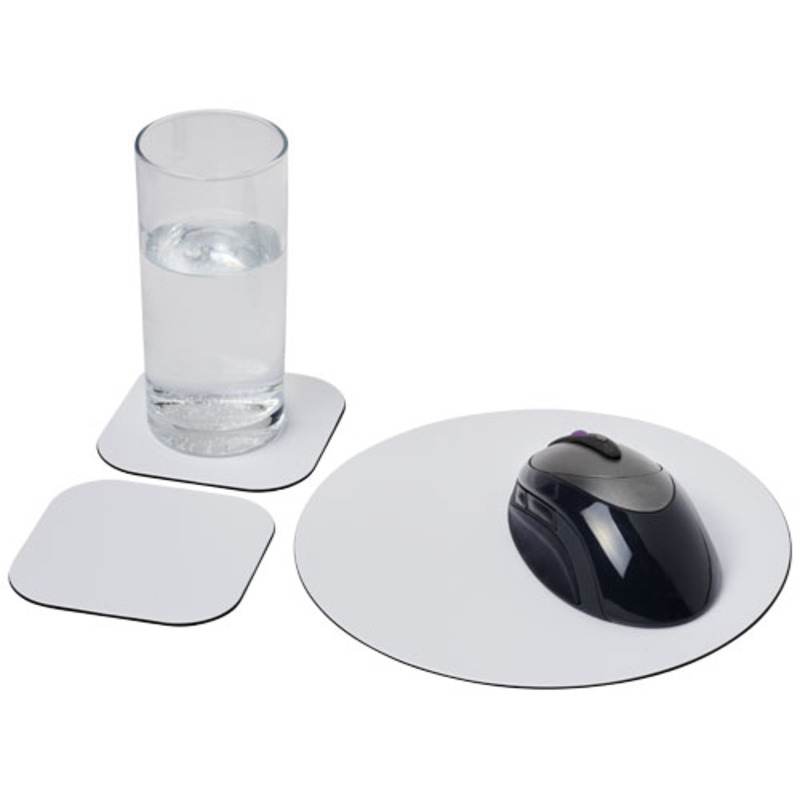 Brite-Mat® mouse mat and coaster set combo 6