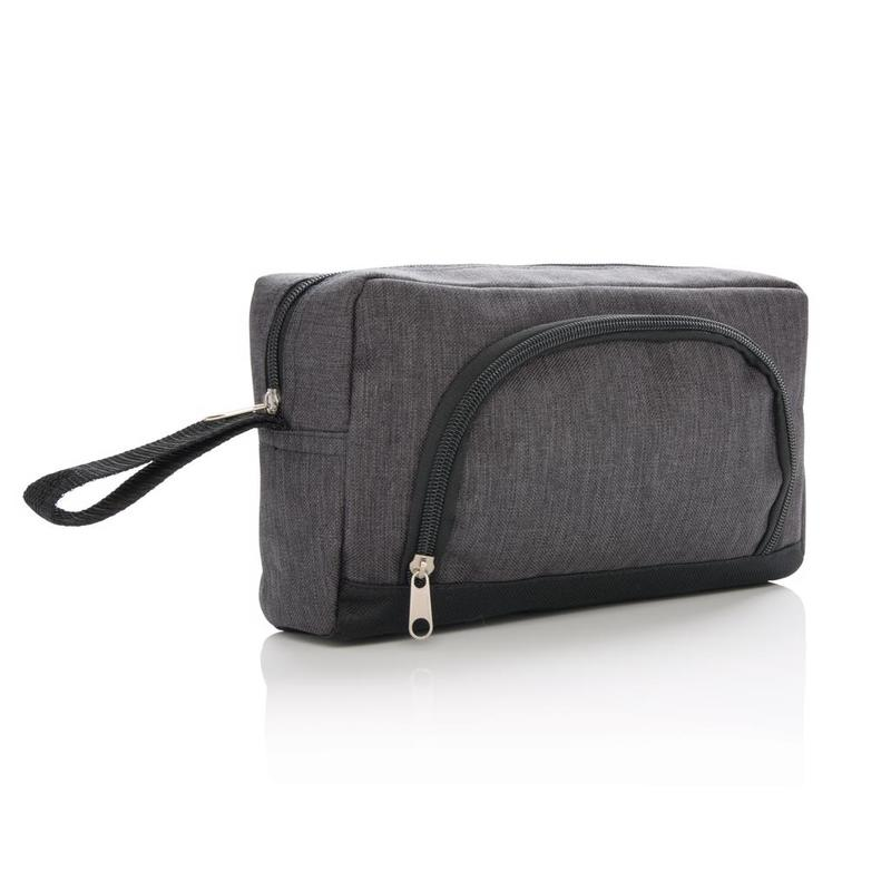 Classic two tone toiletry bag