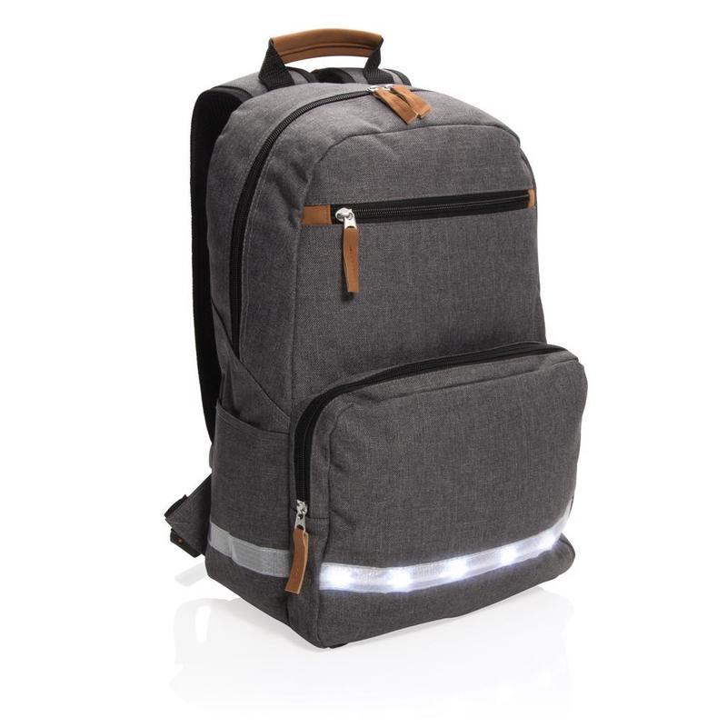 """LED light 13"""" laptop backpack"""