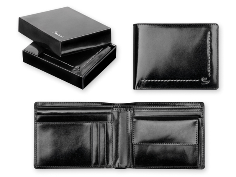 ANGELO men's wallet, SANTINI, Black