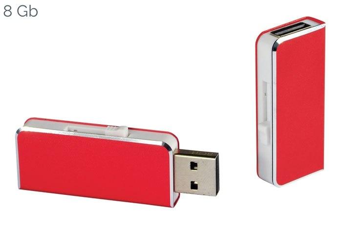 USB ALUMINIUM RED 47x20 mm