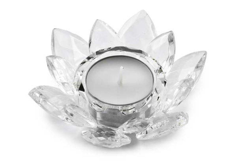 TEA-LIGHT HOLDER CRYSTAL FLOWER-d=100mm