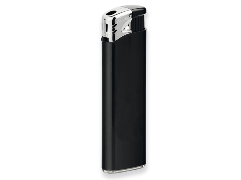 FLAMING piezzo lighter, refillable, Black